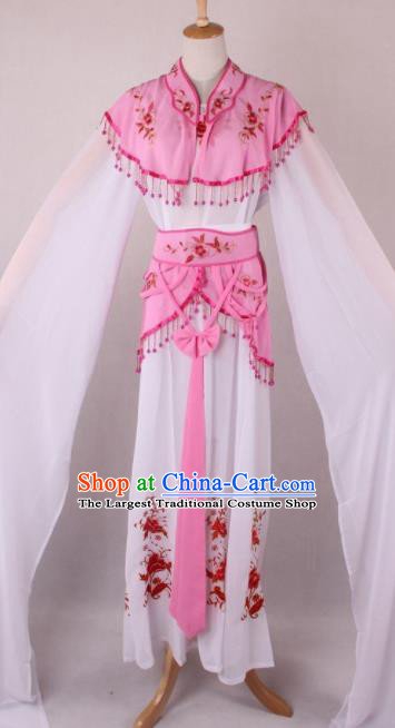 Professional Chinese Beijing Opera Court Lady Pink Dress Ancient Traditional Peking Opera Costume for Women