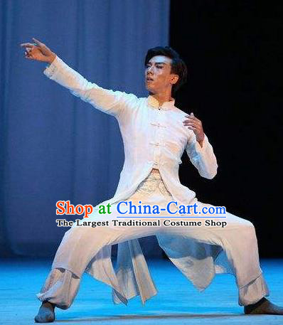Traditional Chinese Classical Dance Cheng Feng Gui Qu Costume Solo Dance Clothing for Men