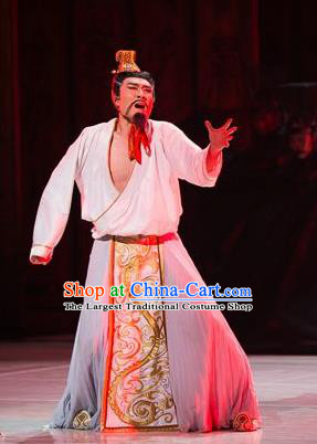 Traditional Chinese Classical Dance Confucius Costume Drama King Dance Clothing for Men
