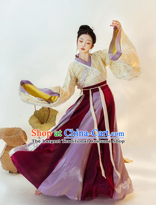 Chinese Ancient Court Princess Hanfu Dress Traditional Jin Dynasty Imperial Concubine Replica Costumes for Women