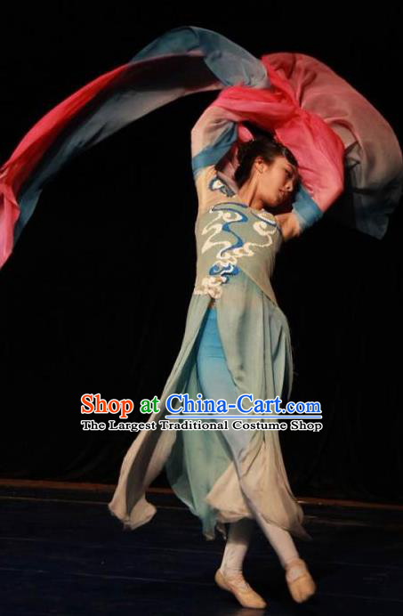 Traditional Chinese Classical Dance Que Qiao Xian Costume Ballet Stage Show Beautiful Dance Dress for Women