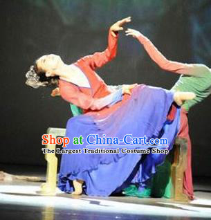 Traditional Chinese Classical Dance Competition Sheng Sheng Man Costume Stage Show Beautiful Dance Dress for Women
