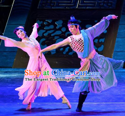 Traditional Chinese Classical Dance Competition Costume Stage Show Si Hai Meng Xun Beautiful Dance Dress for Women