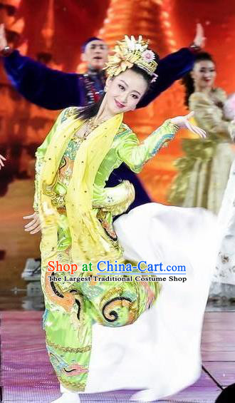 Traditional Chinese Classical Dance Competition Costume Stage Show Si Lu Ni Shang Beautiful Dance Dress for Women
