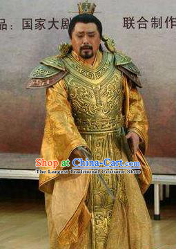Traditional Chinese Classical Dance Costume Drama King Fu Chai Clothing for Men