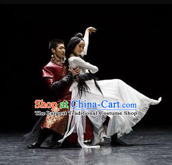 Beautiful Chinese Dance Yan Hua Yi Leng Costume Traditional Palace Dance Classical Dance Dress for Women