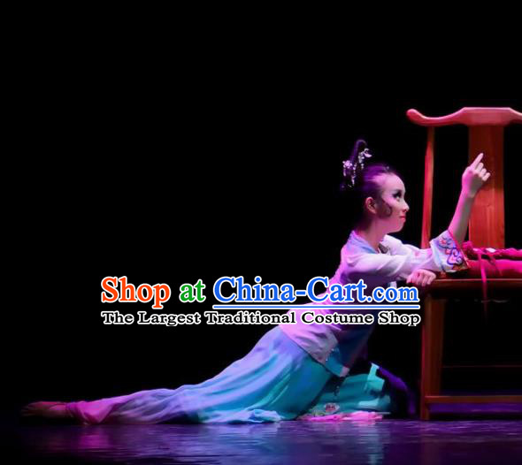Traditional Chinese Classical Dance Competition Si Shi Gu Ren Gui Costume Stage Show Beautiful Dance Dress for Women