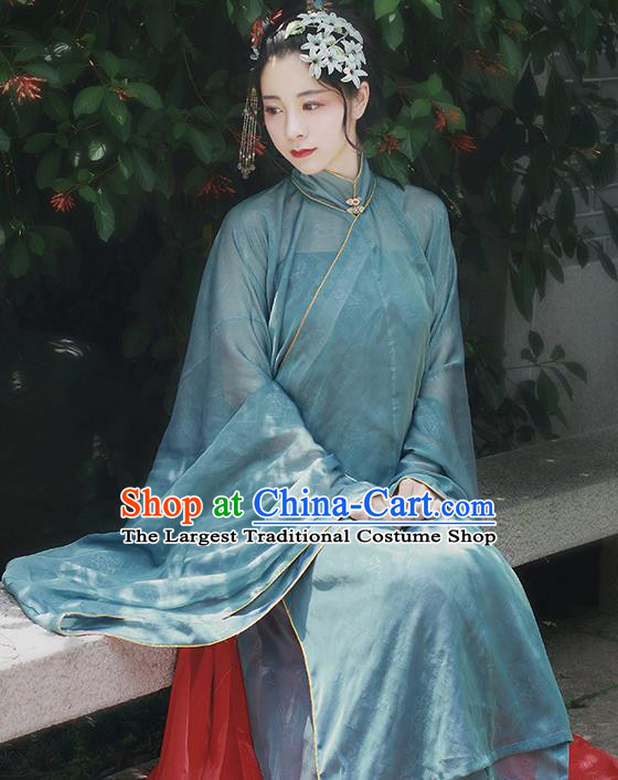 Chinese Traditional Ming Dynasty Countess Replica Costumes Ancient Nobility Lady Hanfu Dress for Women