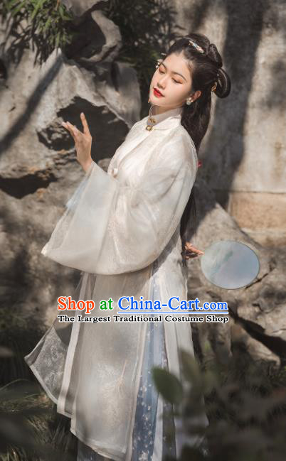 Traditional Chinese Ming Dynasty Princess Hanfu Dress Ancient Court Dowager Replica Costumes for Women