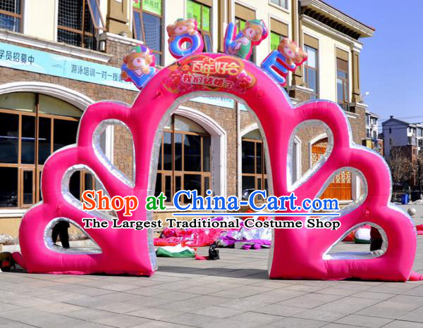 Large Christmas Inflatable Pink Archway Product Models Wedding Inflatable Arches