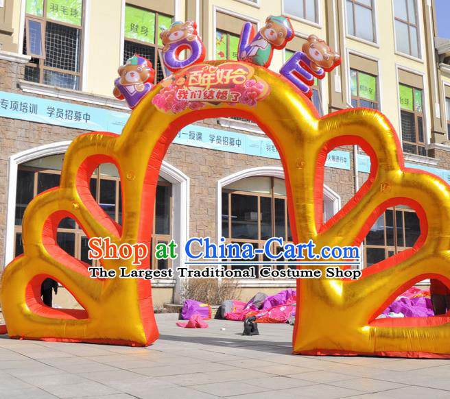 Large Christmas Inflatable Golden Archway Product Models Wedding Inflatable Arches