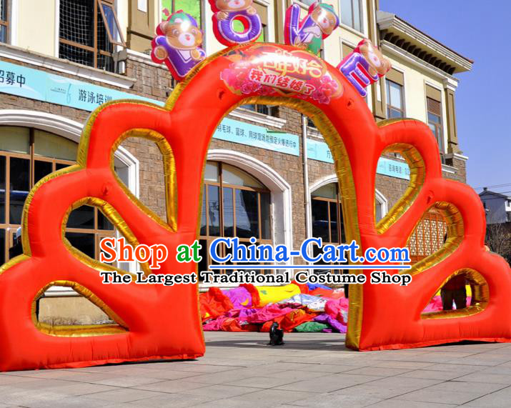 Large Christmas Inflatable Red Archway Product Models Wedding Inflatable Arches
