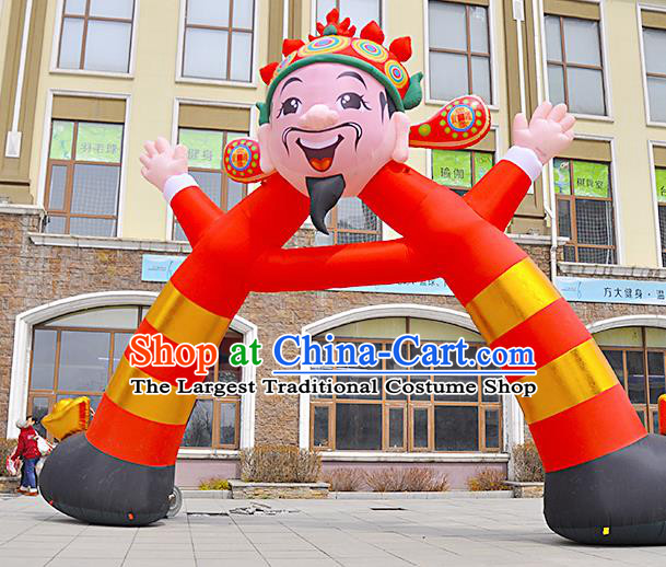 Large Chinese Inflatable God of Wealth Archway Product Models New Year Inflatable Arches