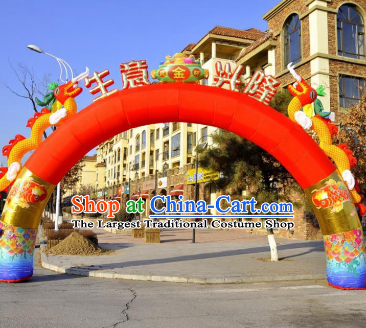 Large Chinese Opening Inflatable Dragon Archway Product Models New Year Inflatable Arches