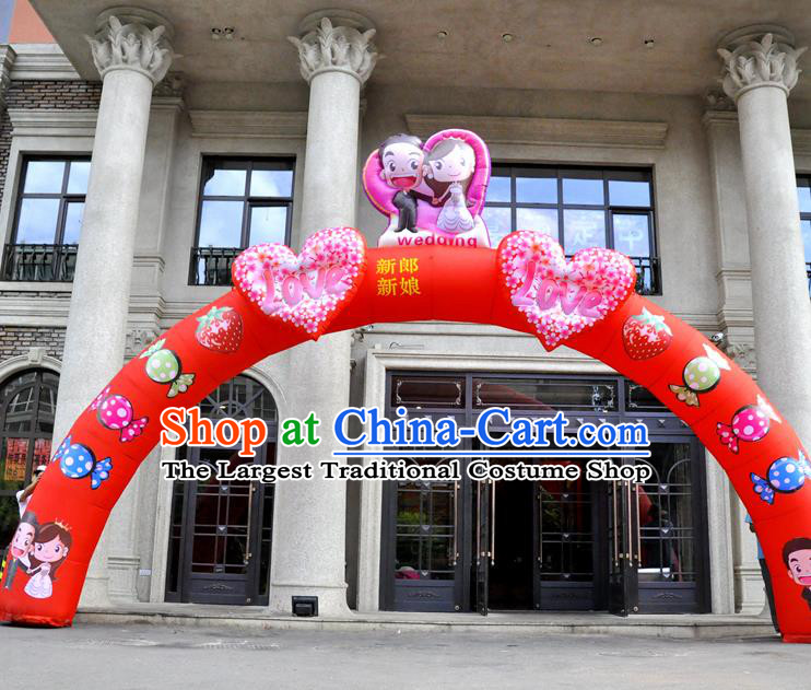 Large Chinese Wedding Inflatable Red Archway Product Models New Year Inflatable Arches