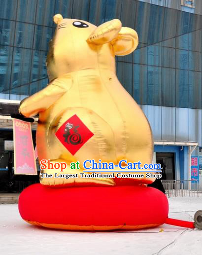 Large Chinese New Year Inflatable Golden Rat of Wealth Models Inflatable Arches Archway