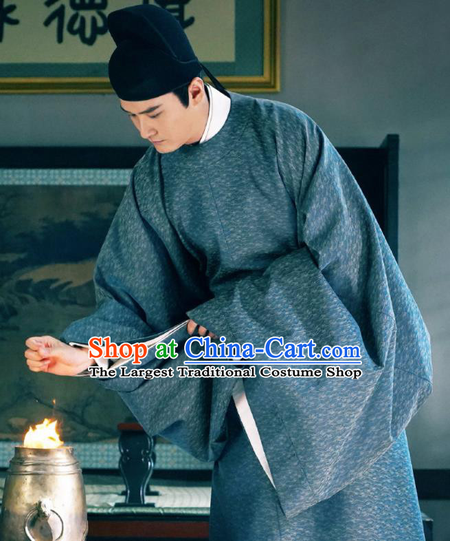Chinese Ancient Song Dynasty Tribute Scholar Drama Royal Nirvana Xu Changping Replica Costumes and Hat Complete Set