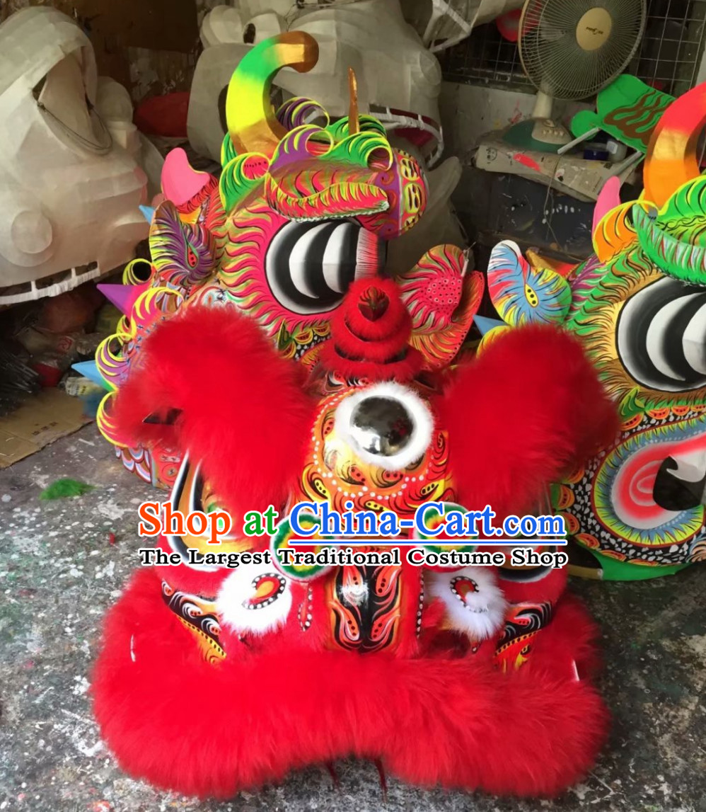 Chinese Lunar New Year Traditional Chinese Southern Lion Dance Lion Dancing Costume Full Set