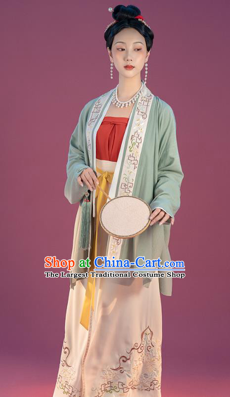Traditional Song Dynasty Imperial Consort Hanfu Dress China Ancient Court Women Costumes Full Set
