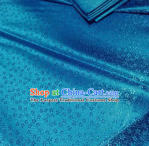 Chinese Classical Babysbreath Pattern Design Lake Blue Brocade Fabric Asian Traditional Satin Silk Material