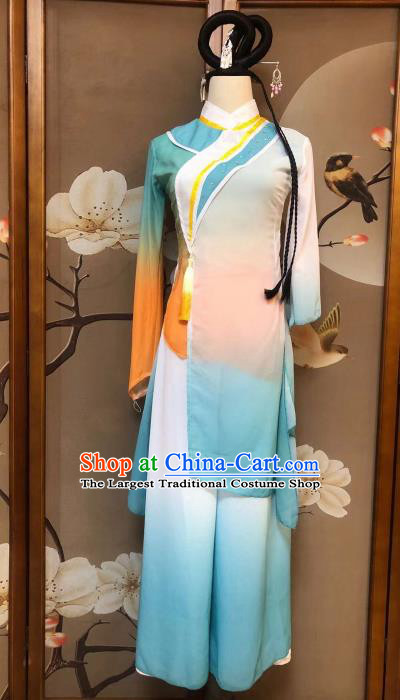 Chinese Classical Dance Zui Chun Feng Dress Traditional Fan Dance Stage Show Costume for Women
