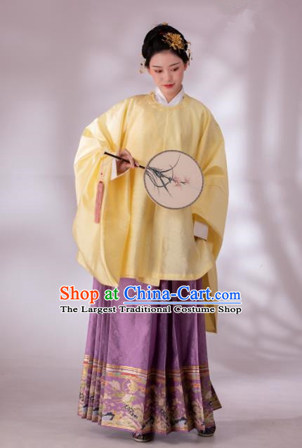 Traditional Chinese Ming Dynasty Patrician Dowager Blouse and Skirt Ancient Duchess Historical Costumes for Women