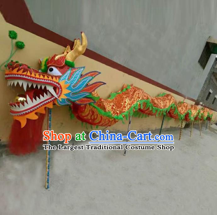 Chinese Traditional Red Dragon Head Prop Dragon Dance Competition Costumes for Adult