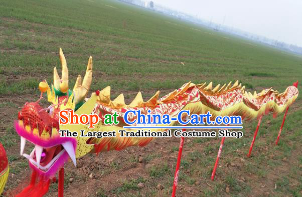 Chinese Traditional Golden Dragon Head Prop Dragon Dance Competition Costumes for Kids