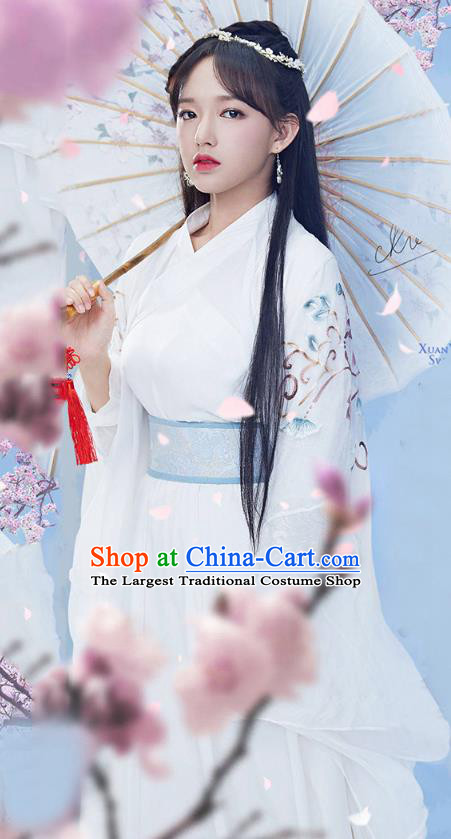 Chinese Traditional Song Dynasty Swordsman Dress Ancient Drama Princess Historical Costumes for Women