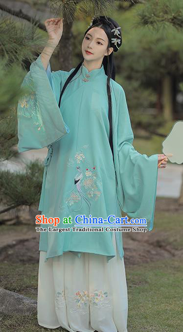Traditional Chinese Ming Dynasty Royal Infanta Green Hanfu Dress Ancient Nobility Lady Historical Costumes for Women