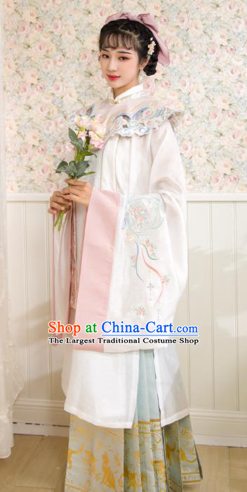 Chinese Traditional Ming Dynasty Royal Infanta Hanfu Dress Ancient Patrician Lady Historical Costumes for Women