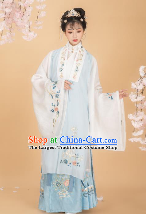 Chinese Traditional Ming Dynasty Patrician Mistress Blouse and Skirt Ancient Royal Infanta Historical Costumes for Women