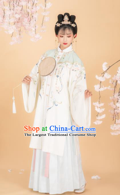 Chinese Traditional Ming Dynasty Patrician Girl Blouse and Skirt Ancient Royal Infanta Historical Costumes for Women