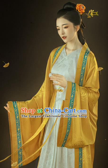 Chinese Ancient Patrician Lady Hanfu Dress Traditional Song Dynasty Court Princess Costumes for Women