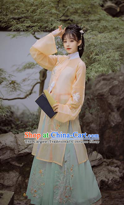 Chinese Traditional Ming Dynasty Historical Costume Ancient Patrician Lady Hanfu Dress for Women