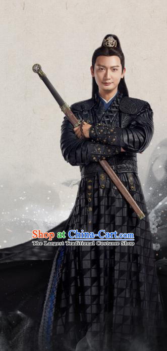 Chinese Ancient Swordsman Yu Hao Clothing Historical Drama The Eternal Love Costume and Headwear for Men