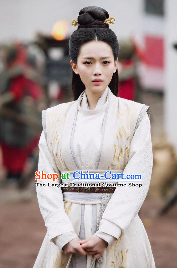 Chinese Ancient Female Swordsman Li Mingyue Hanfu Dress Historical Drama The Love By Hypnotic Costume and Headpiece for Women