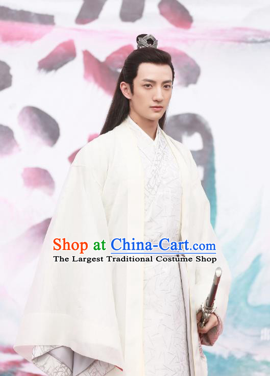 Chinese Drama The Love By Hypnotic Ancient Rich Childe Gong Yuanxiu Historical Costume and Headwear for Men