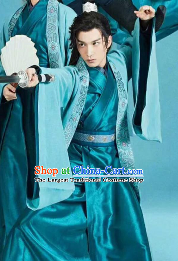 Chinese Drama The Love By Hypnotic Ancient Childe Swordsman Gong Yuanhan Historical Costume and Headwear for Men