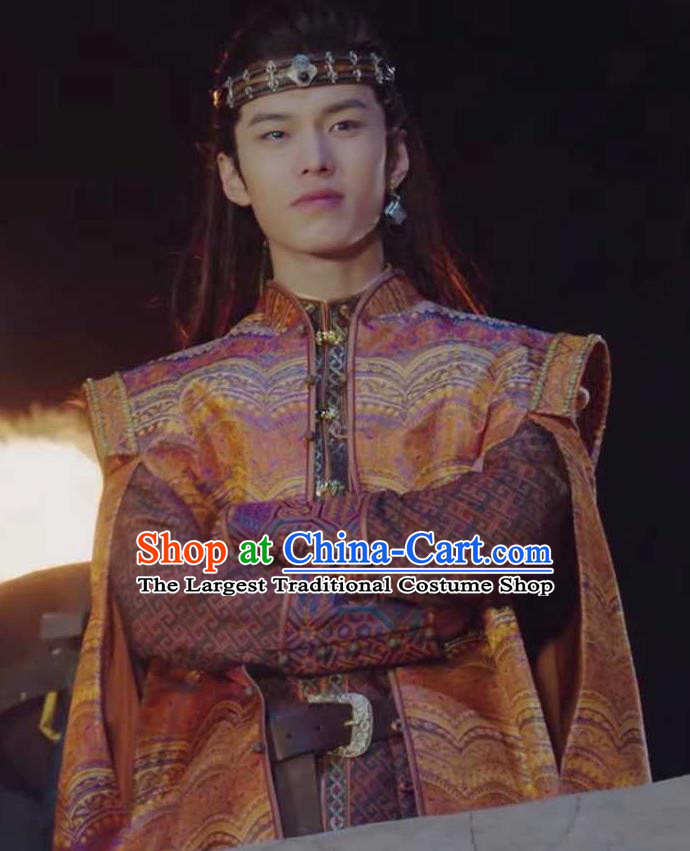 Chinese Drama The Love By Hypnotic Ancient Childe Aide Yushu Historical Costume and Headwear for Men