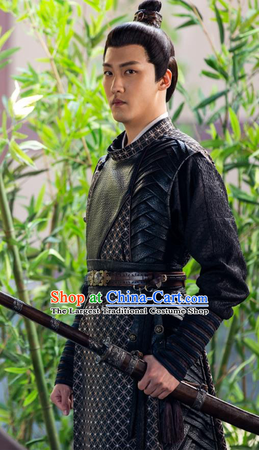 Chinese Drama The Love By Hypnotic Ancient Swordsman Diwu Cheng Historical Costume and Headwear for Men