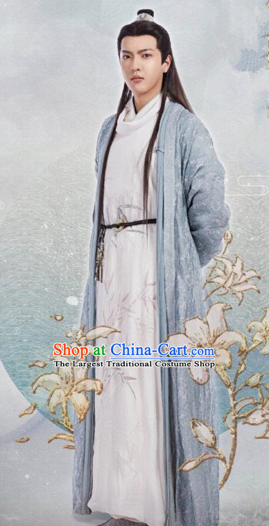 Chinese Drama The Love By Hypnotic Ancient Noble Childe Sikong Zhen Historical Costume and Headwear for Men