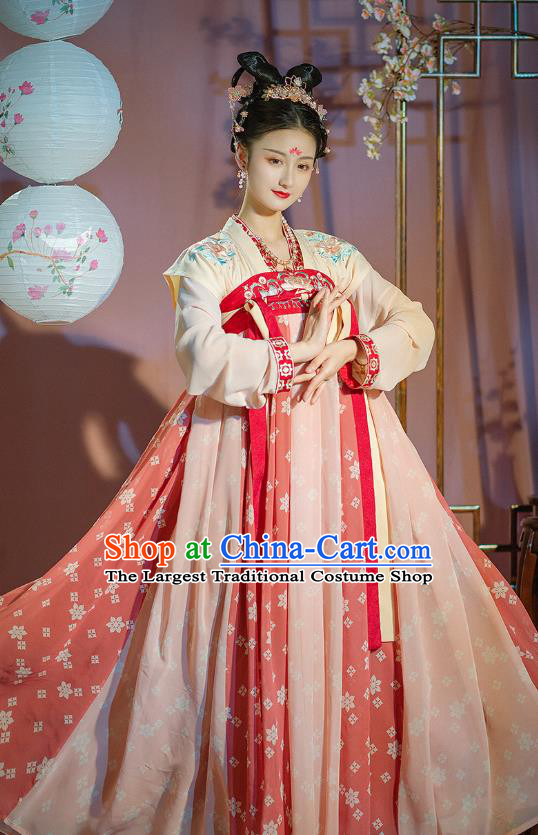 Traditional Chinese Ancient Hanfu Dress Garment Tang Dynasty Court Lady Princess Historical Costumes