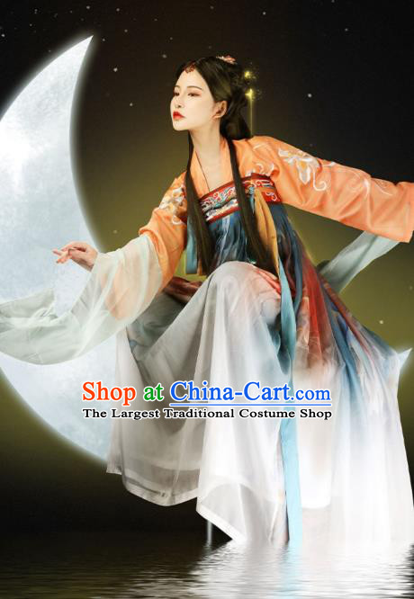 Ancient Chinese Palace Lady Hanfu Dress Traditional Court Princess Apparels Tang Dynasty Historical Costumes