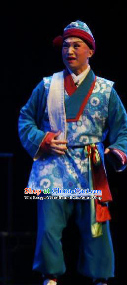 Liang Xiao Chinese Ping Opera Waiter Costumes and Headwear Pingju Opera Figurant Young Male Apparels Clothing