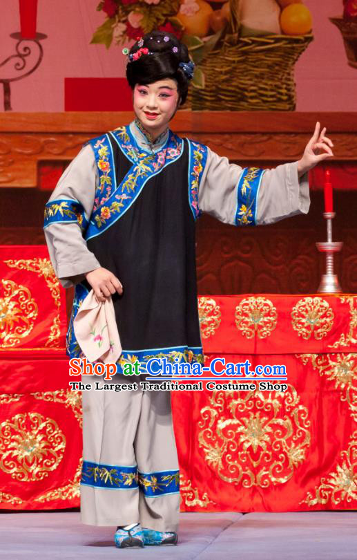 Chinese Ping Opera Fei Jie Young Female Apparels Costumes and Headpieces Traditional Pingju Opera Dress Garment