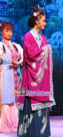 Chinese Ping Opera Noble Countess Apparels Costumes and Headpieces Baoyu and Daiyu Traditional Pingju Opera Middle Age Dame Dress Garment