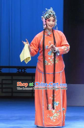 Chinese Ping Opera Young Female Costumes Apparels and Headpieces Traditional Pingju Opera Diva Actress Dress Garment