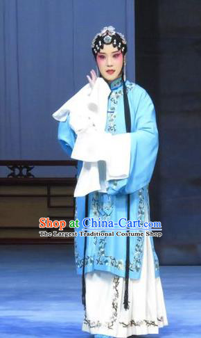 Chinese Ping Opera Young Mistress Costumes Apparels and Headpieces Traditional Pingju Opera Huadan Dress Actress Garment