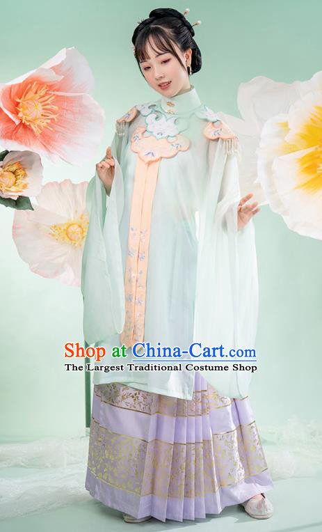 Chinese Ancient Royal Princess Hanfu Dress Palace Lady Apparels Traditional Ming Dynasty Blouse and Skirt Historical Costumes Complete Set